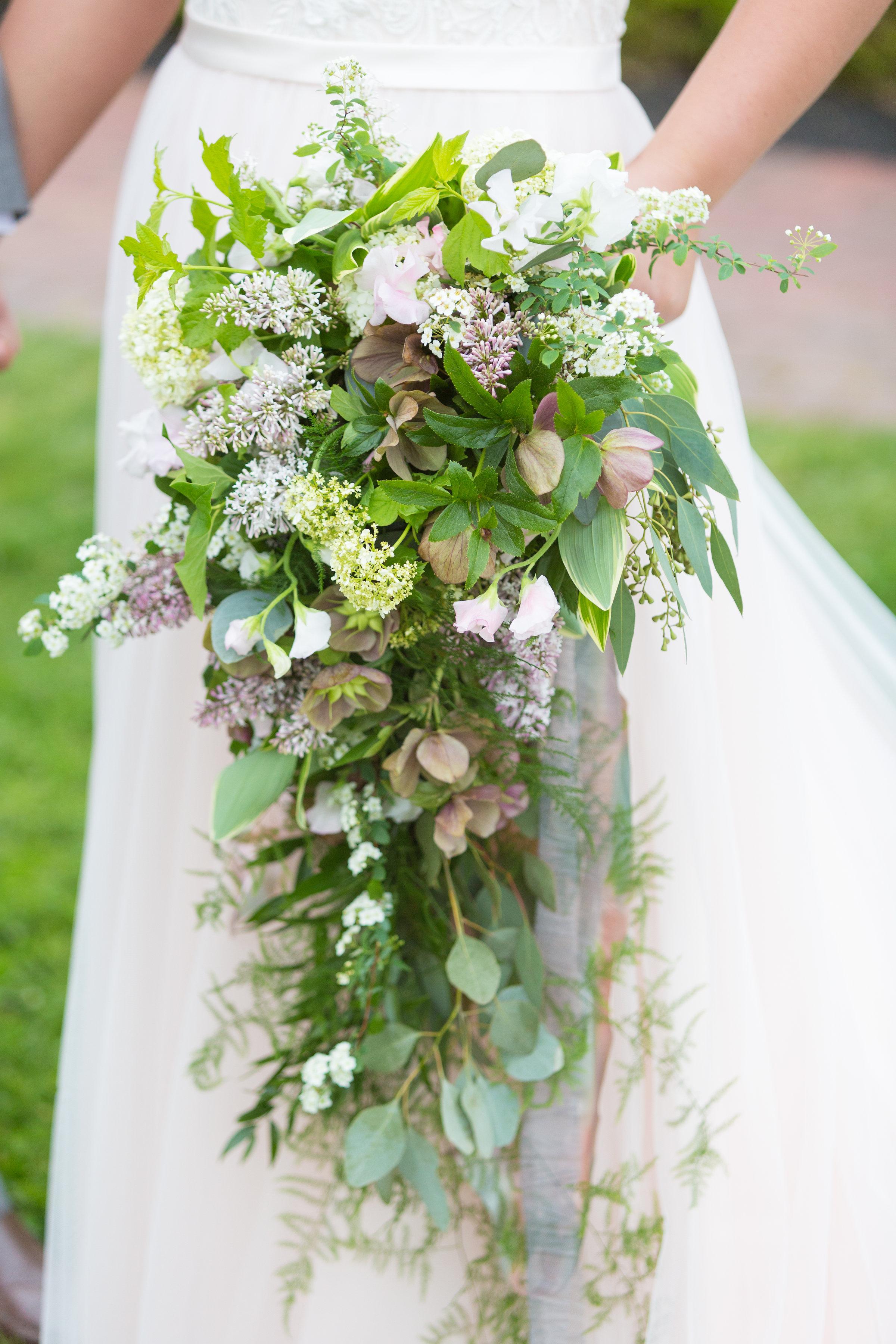 Congress Hall photo shoot cascading bouquet