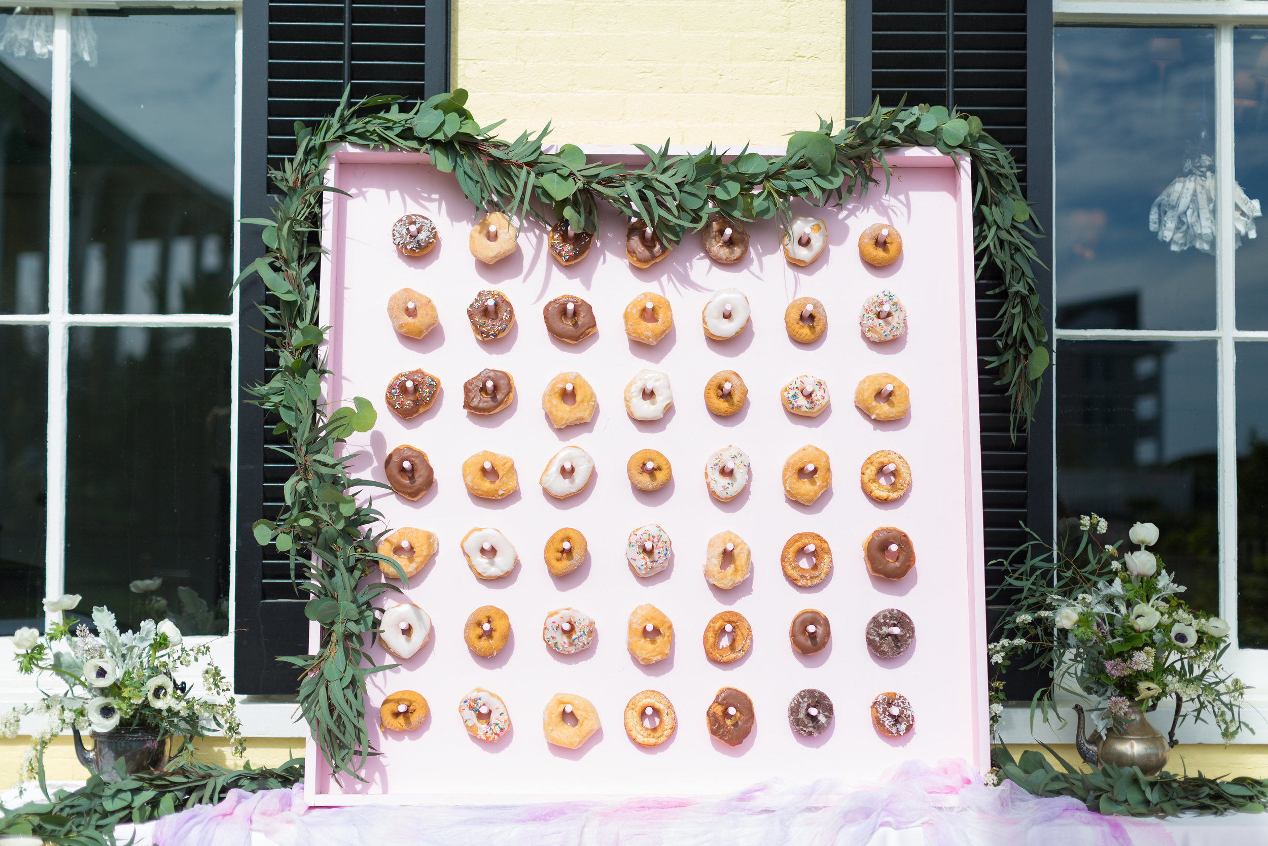 donut wall for Congress Hall photo shoot