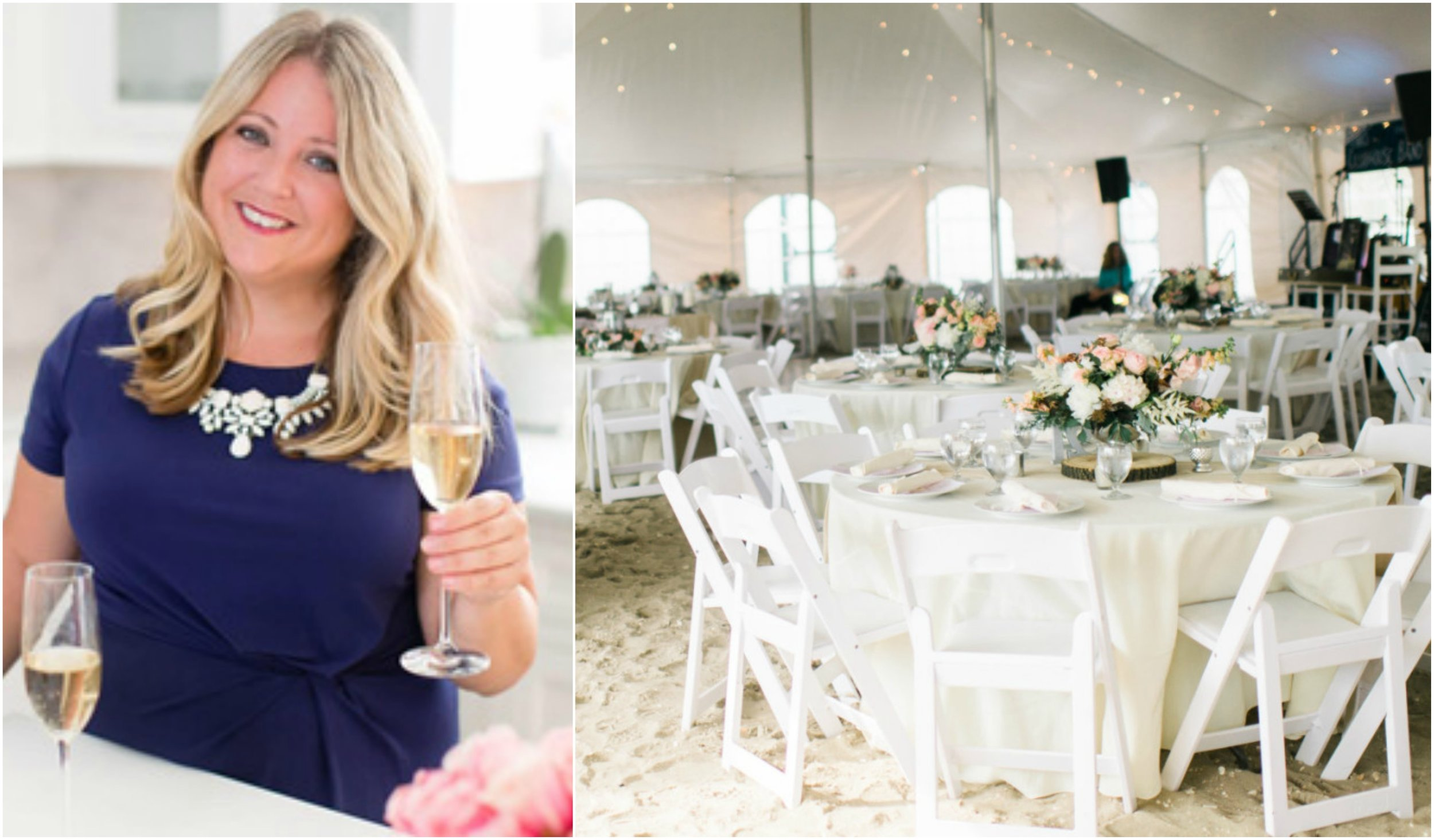 Left: Image taken from the  Events by Renee website  // Right:  Rach Loves Troy Photography