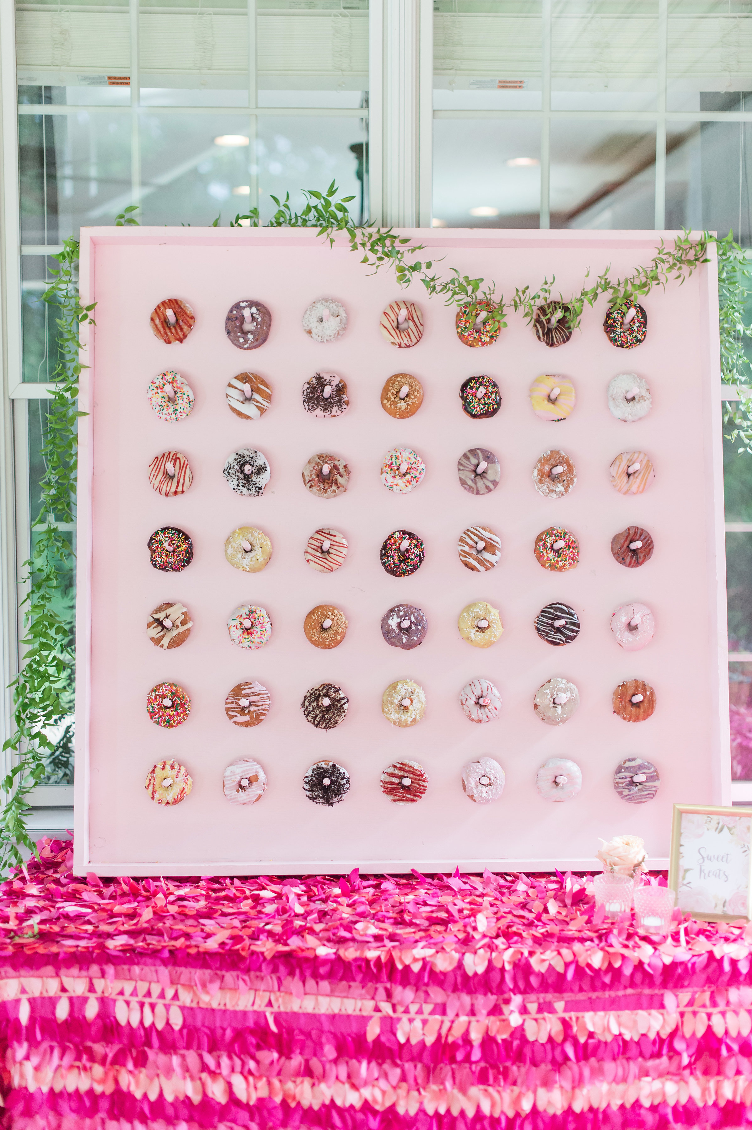 close up of donut wall