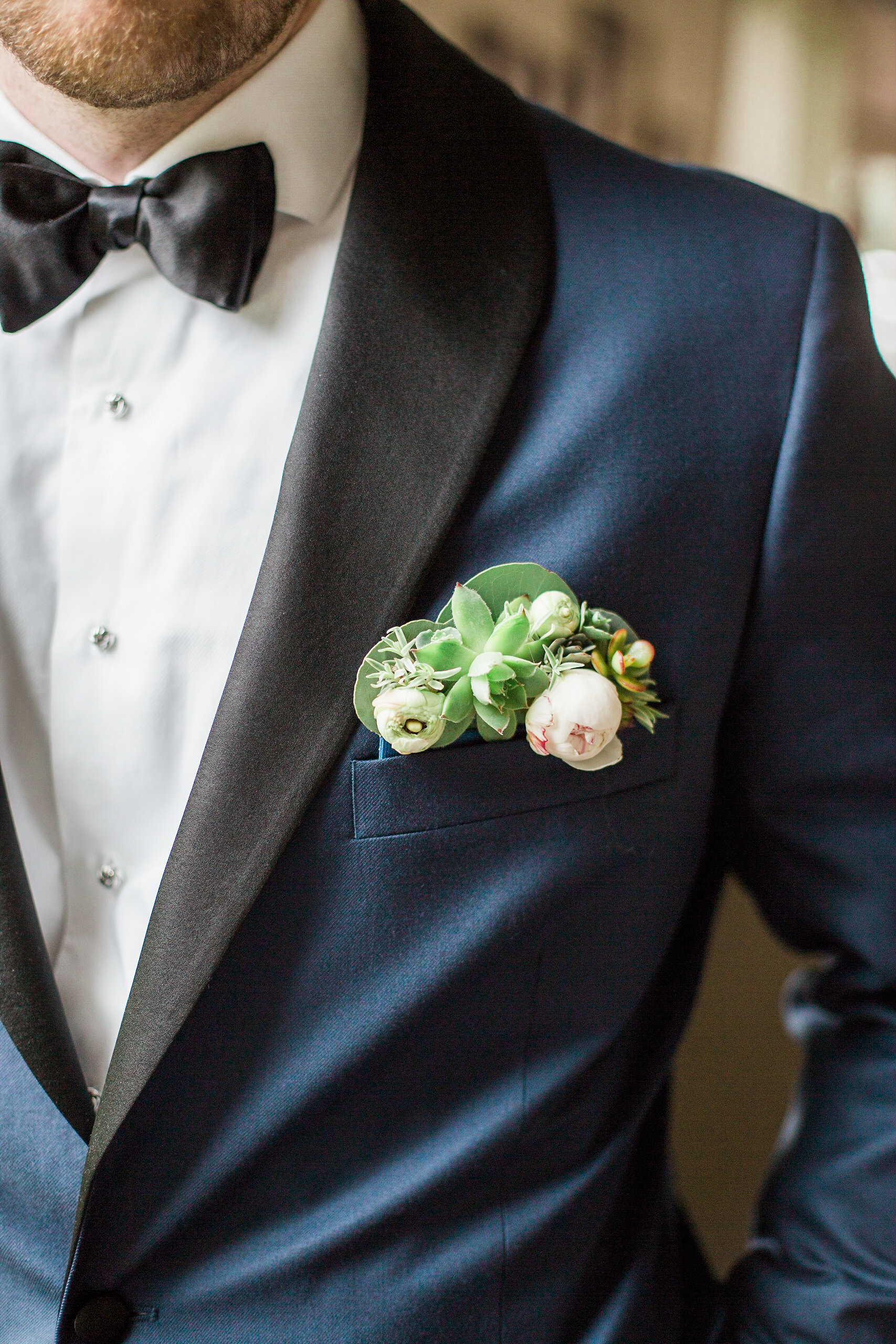 floral pocket square by A Garden Party florist