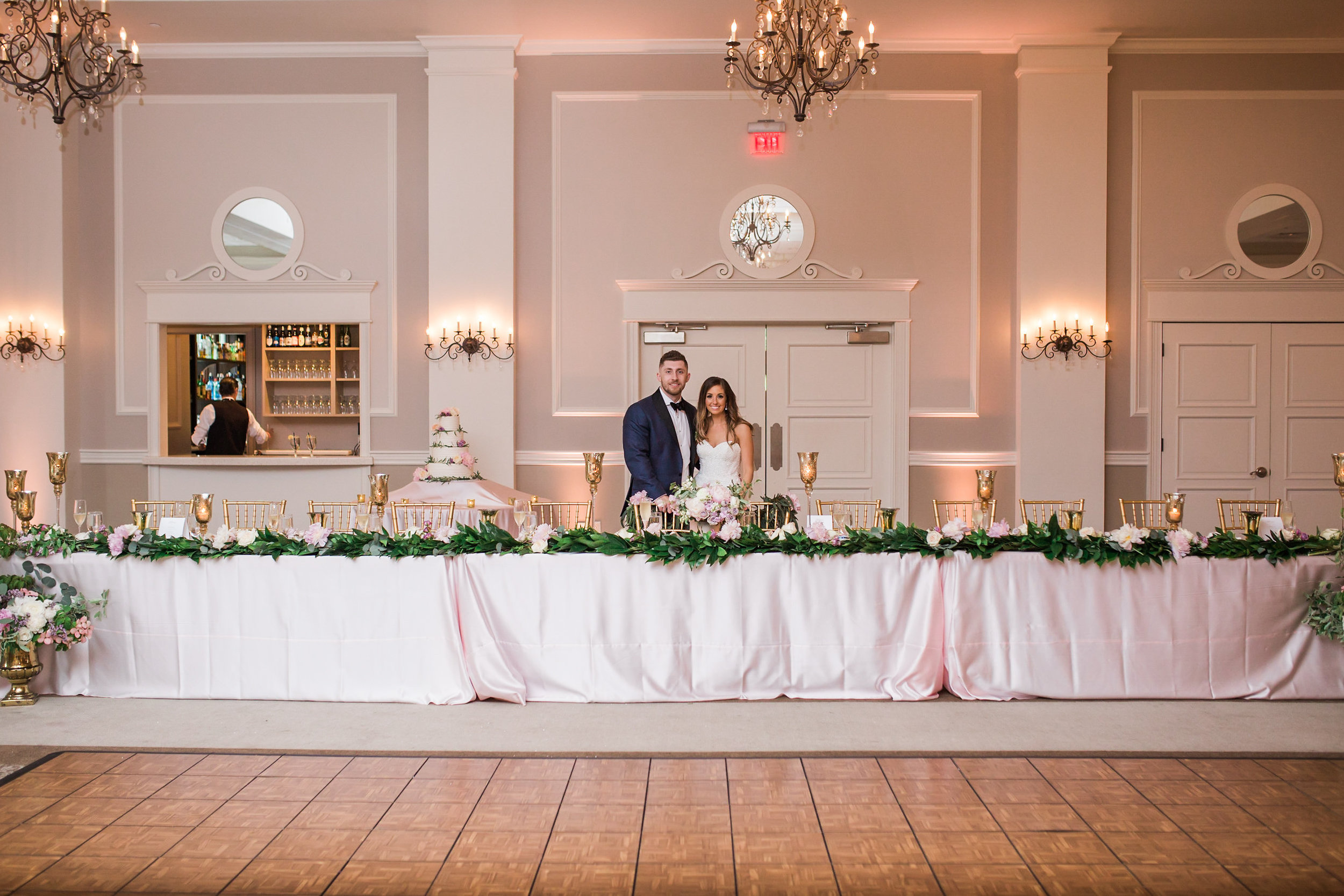 wide shot of head table
