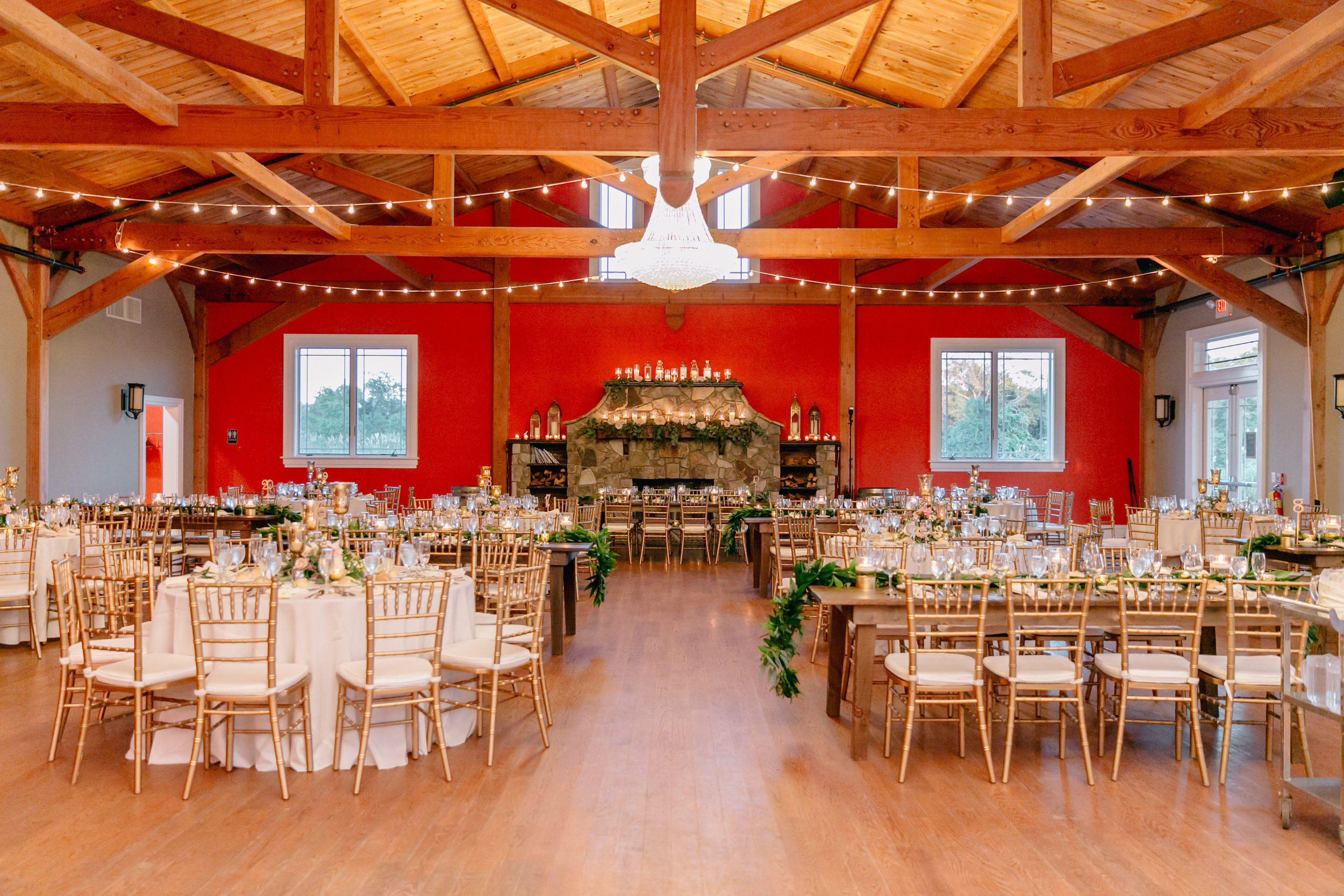 wide shot of Haley and Ben's reception space