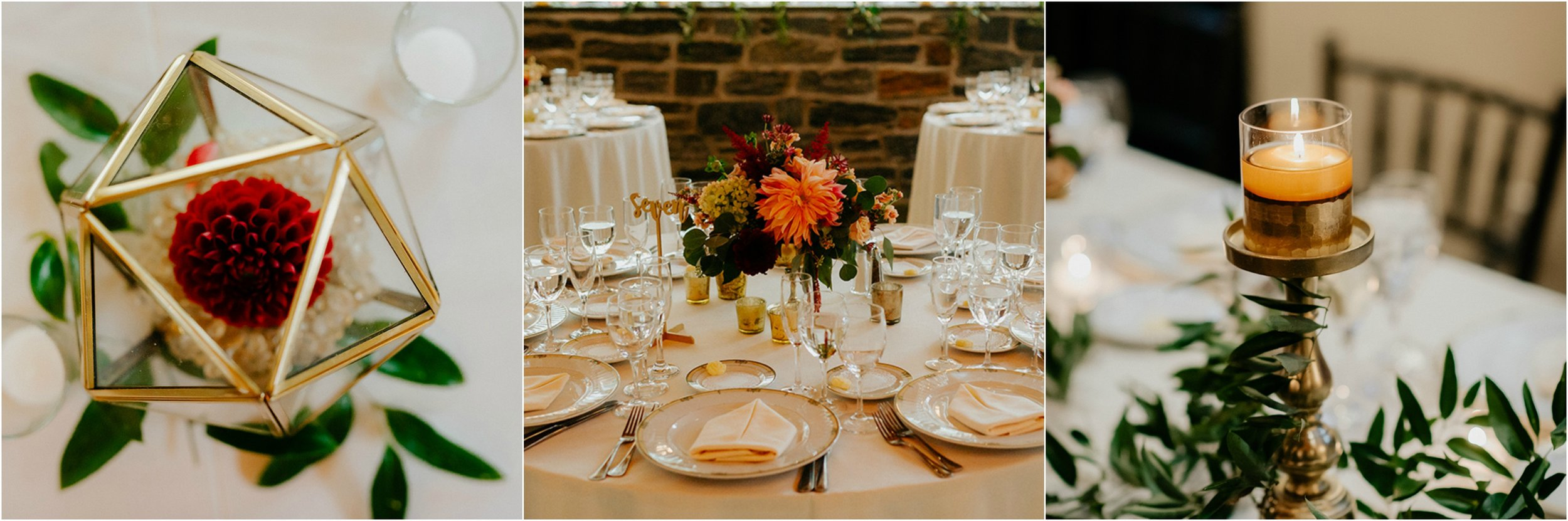 fall wedding centerpieces knowlton mansion