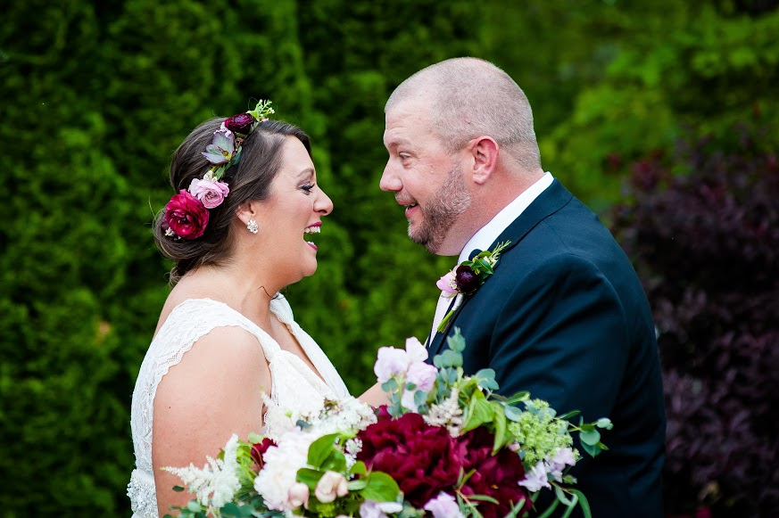 NJ Wedding, Running Deer Golf Club, Fall Wedding, Flower Crown, Bride, Bridal, Peony, Matt Gruber Photography
