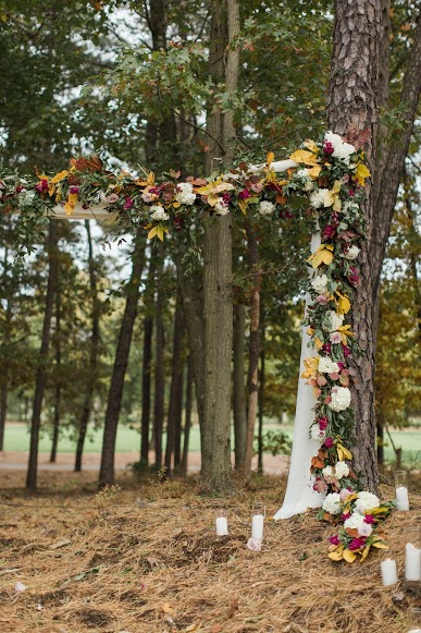 Running Deer Wedding, Aisle Decor, Ceremony, Fall Wedding, A Garden Party, Samantha Jay Photography
