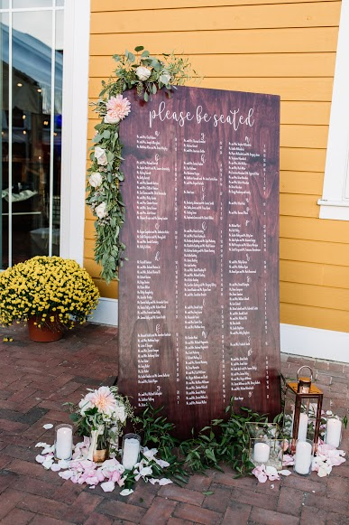 NJ Wedding, Seating Chart, Seating Assignments, Wedding Inspo, A Garden Party, Willow Creek Winery, Cape May Wedding, Beach Wedding