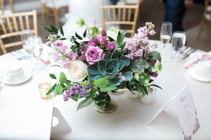 NJ Wedding, Eastlyn Golf Course, Succulent, Lavender Wedding, Compote, Low Centerpiece, Jessica Cooper Photography