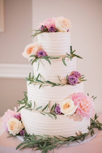 NJ Wedding, Cake Inspo, Wedding Cake, Cake Flowers, Greenery, A Garden Party