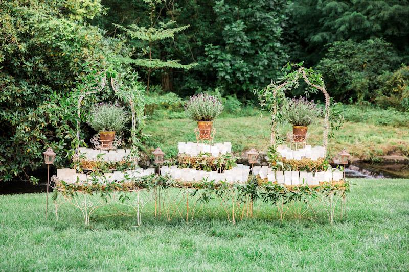 NJ Wedding, Garden Wedding, Escort Card Table, Seating Chart, A Garden Party