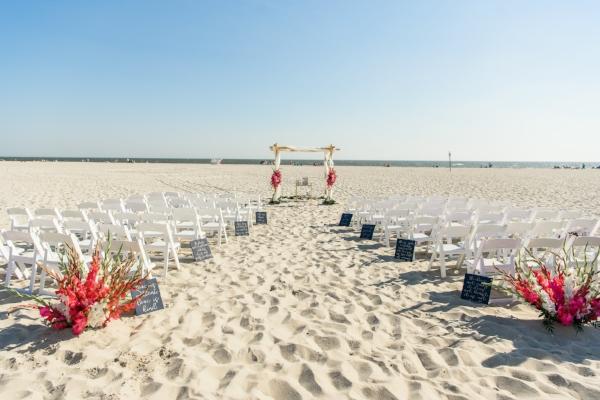 beach ceremony - cape may wedding
