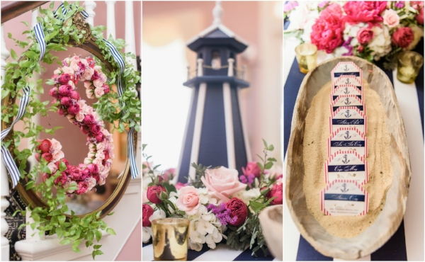beach wedding - reception