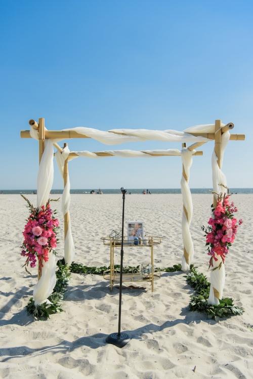 beach wedding - canopy