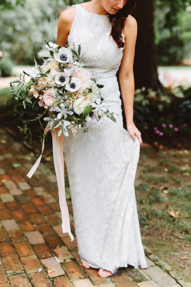 Inn at Fernbrook Wedding, Bride Bouquet, Anenome, Blush Flowers, Pat Furey Photography
