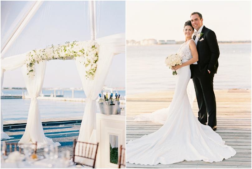 beach wedding - white wedding flowers