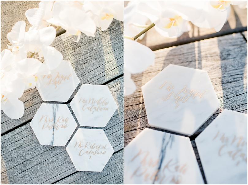 beach wedding - place cards