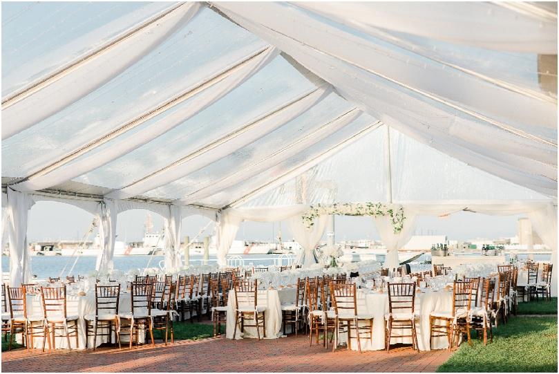 beach wedding - outdoor reception