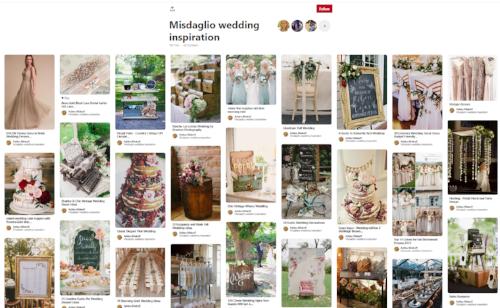 Former bride's Pinterest board