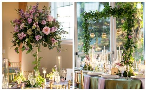 spring reception - purple flowers