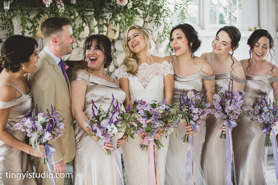 Bonnet Island Estate Wedding, Bride + Bridesmaids Bouquets, Lavender Wedding, Garden Inspired, DP Ying Studios