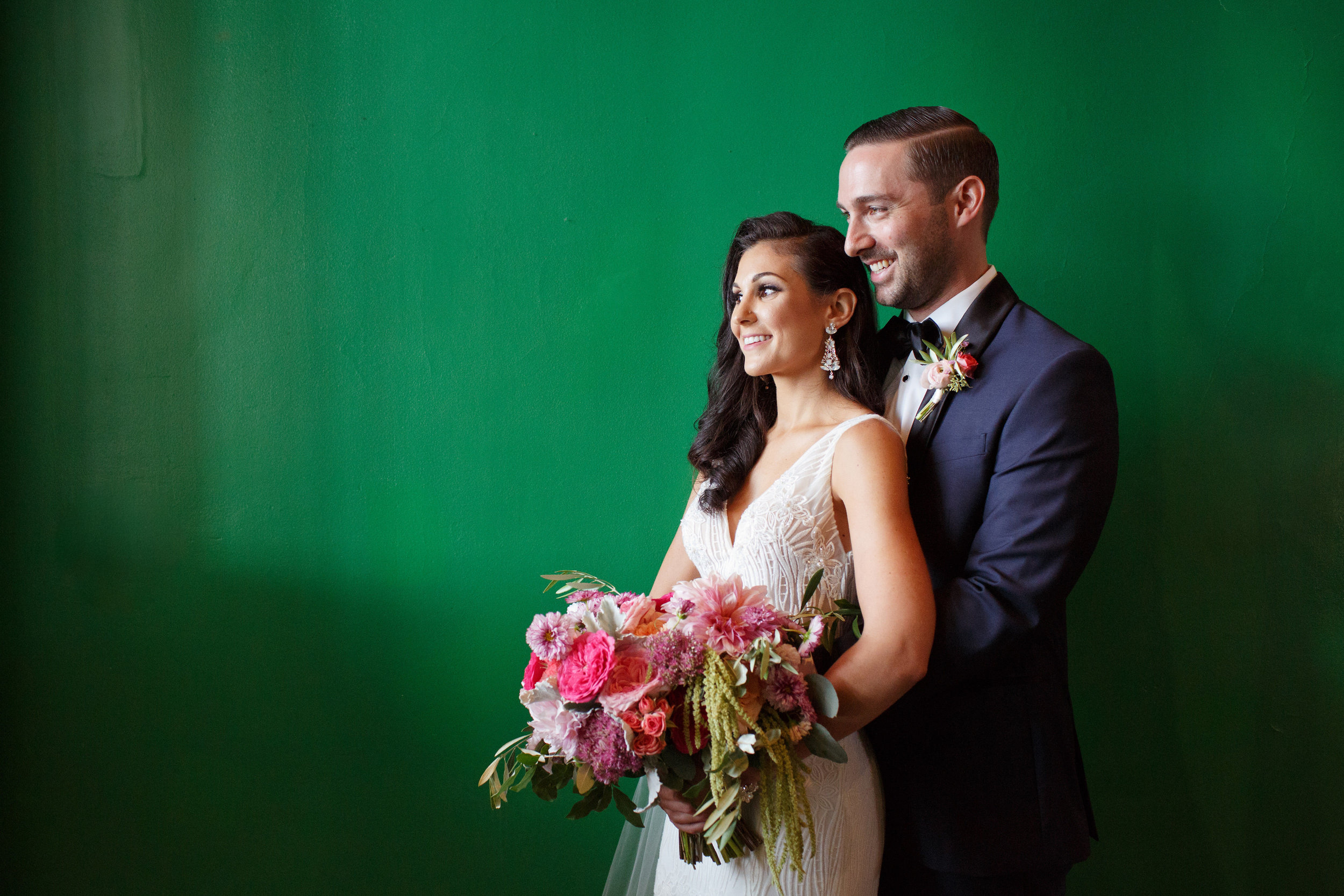 Cape May Congress Hall Wedding, Pink Bouquet, Bride, Flowers, Bridal, Two17 Photography