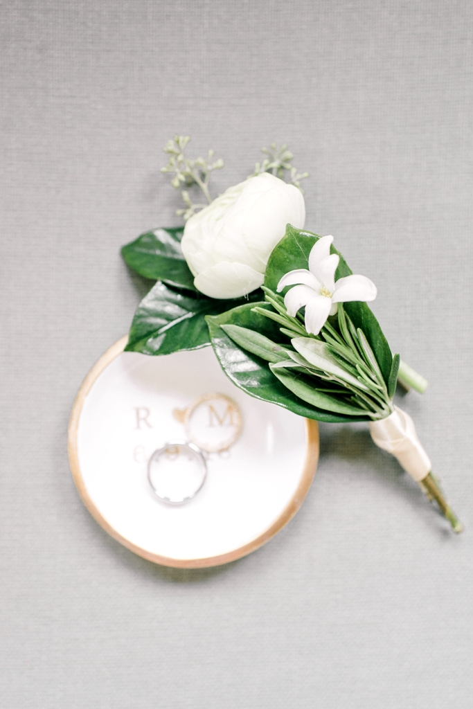 Doylestown Wedding, Ranunculus Boutonniere, Olive Branch, White Wedding, Rachel Pearlmen  Photography
