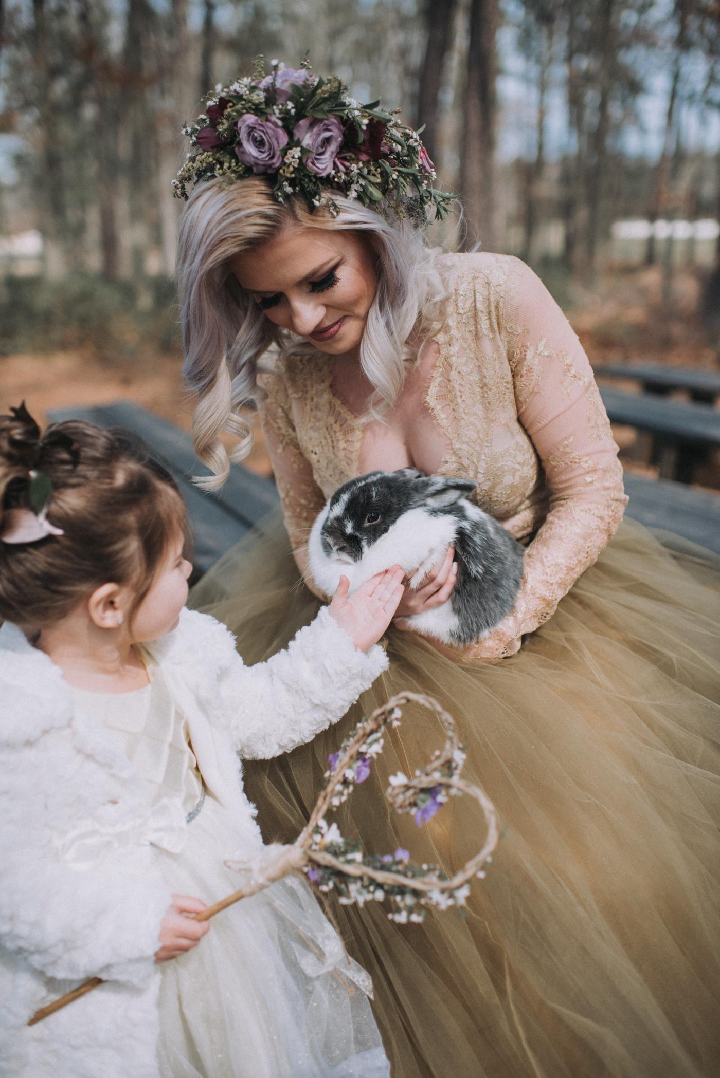 NJ Wedding, Running Deer Golf Club, Flower Girl, Wand, Bunny, Samantha Jay Photography