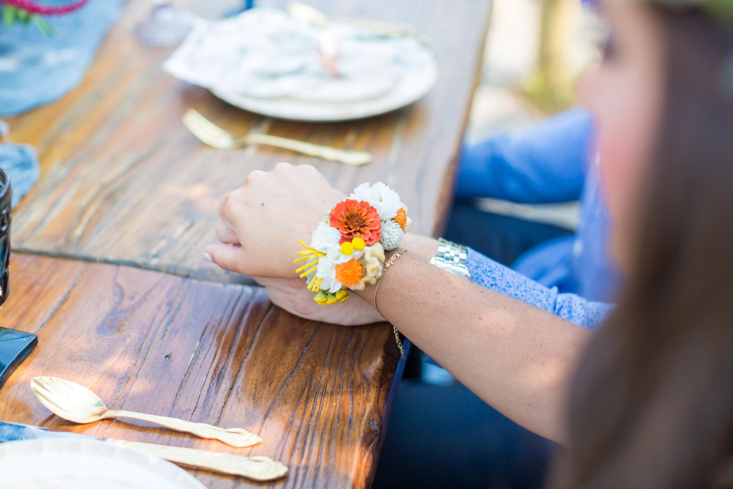 NJ Wedding, Bride Floral Cuff, Rehearsal Dinner, Floral Jewelry, Summer Bridal, Love Story Studios