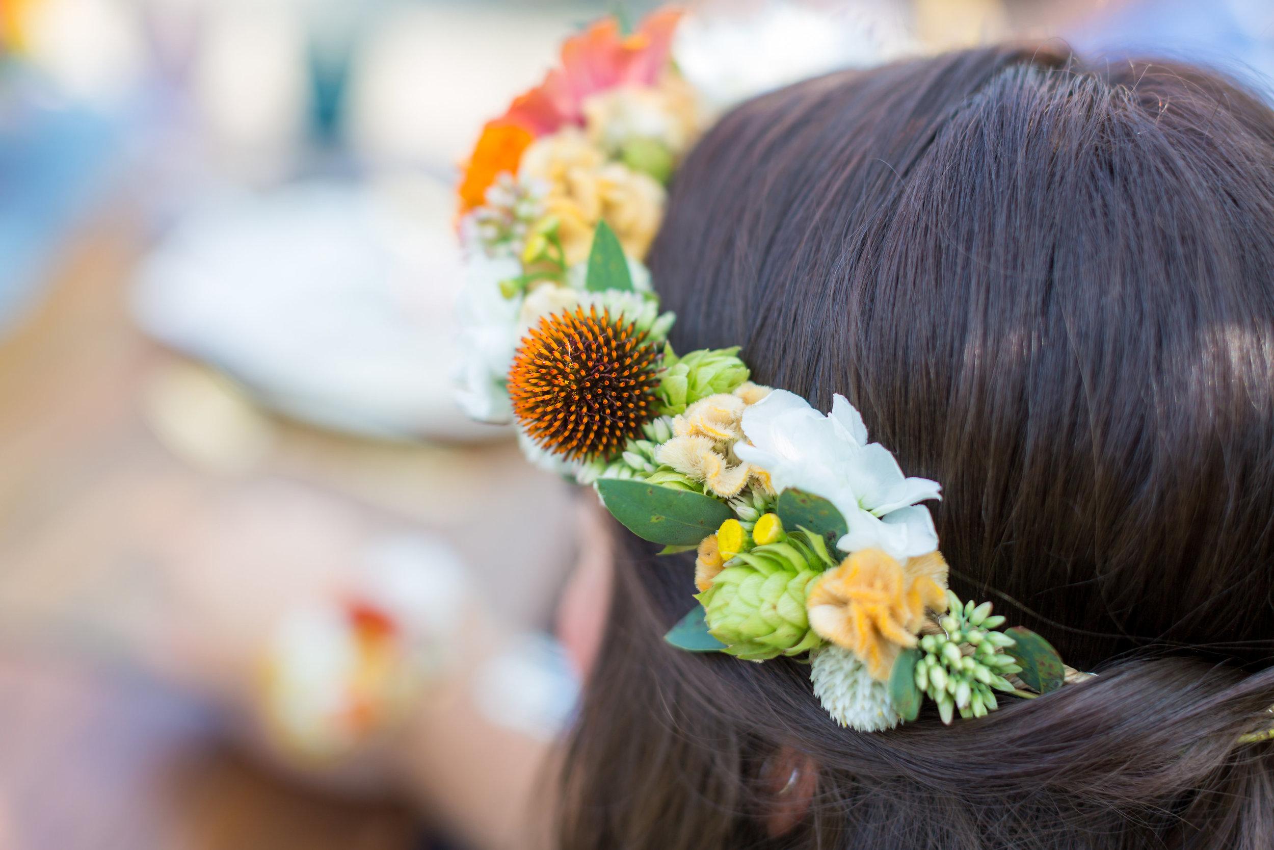 NJ Wedding, Floral Crown, Summer Flowers, Rastellis Market, Farm Wedding, Love Story Studios