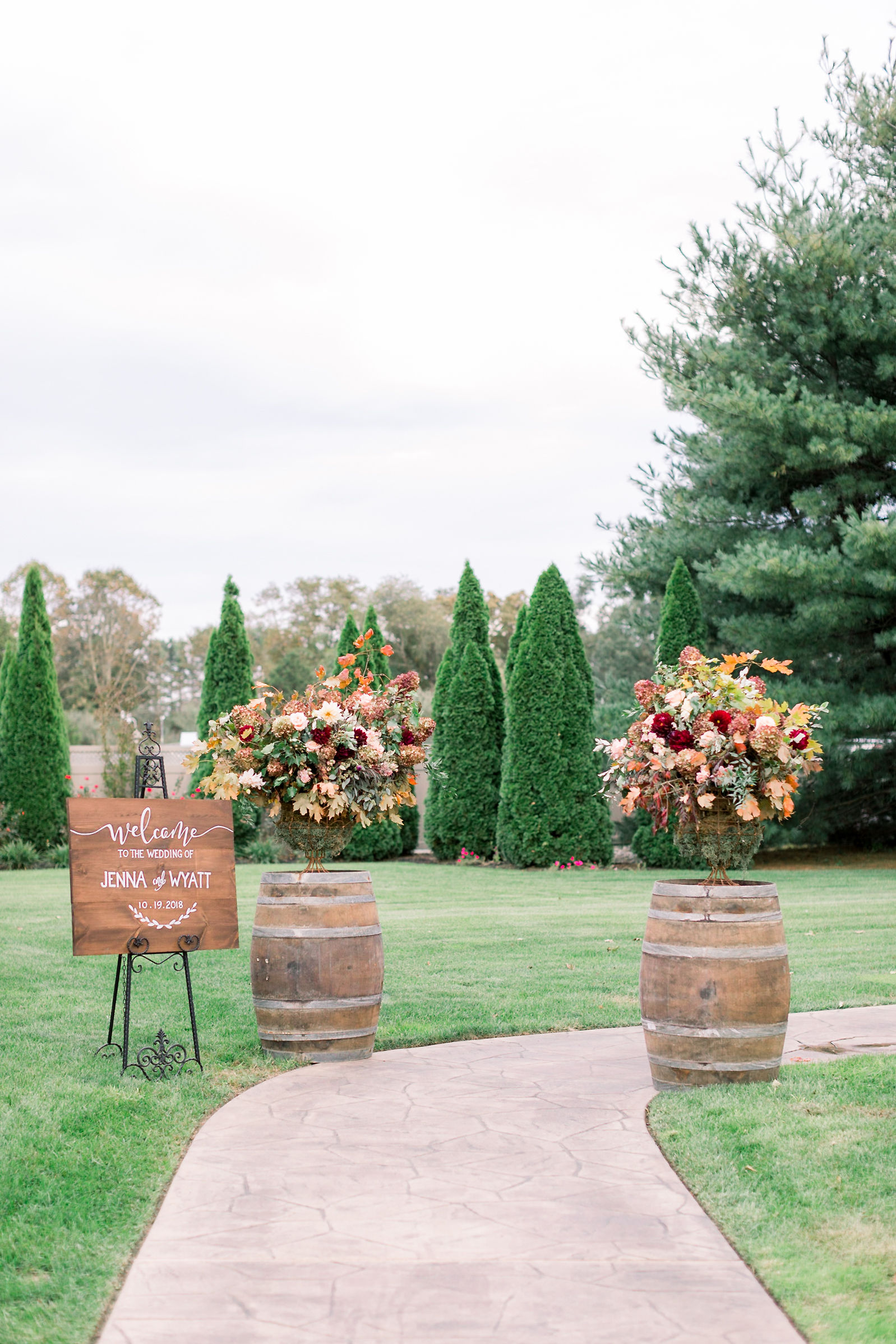 NJ Wedding, Eastlyn Golf Course, Fall Wedding, Aisle Decor, Ceremony, A Garden Party, Grove Photography