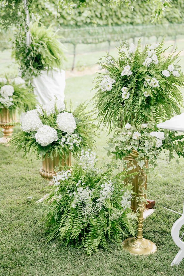 Cape May Wedding, Willow Creek Winery, Greenery Wedding, Ceremony Decor, Aisle, NJ Bride, A Garden Party, Emily Wren Photography