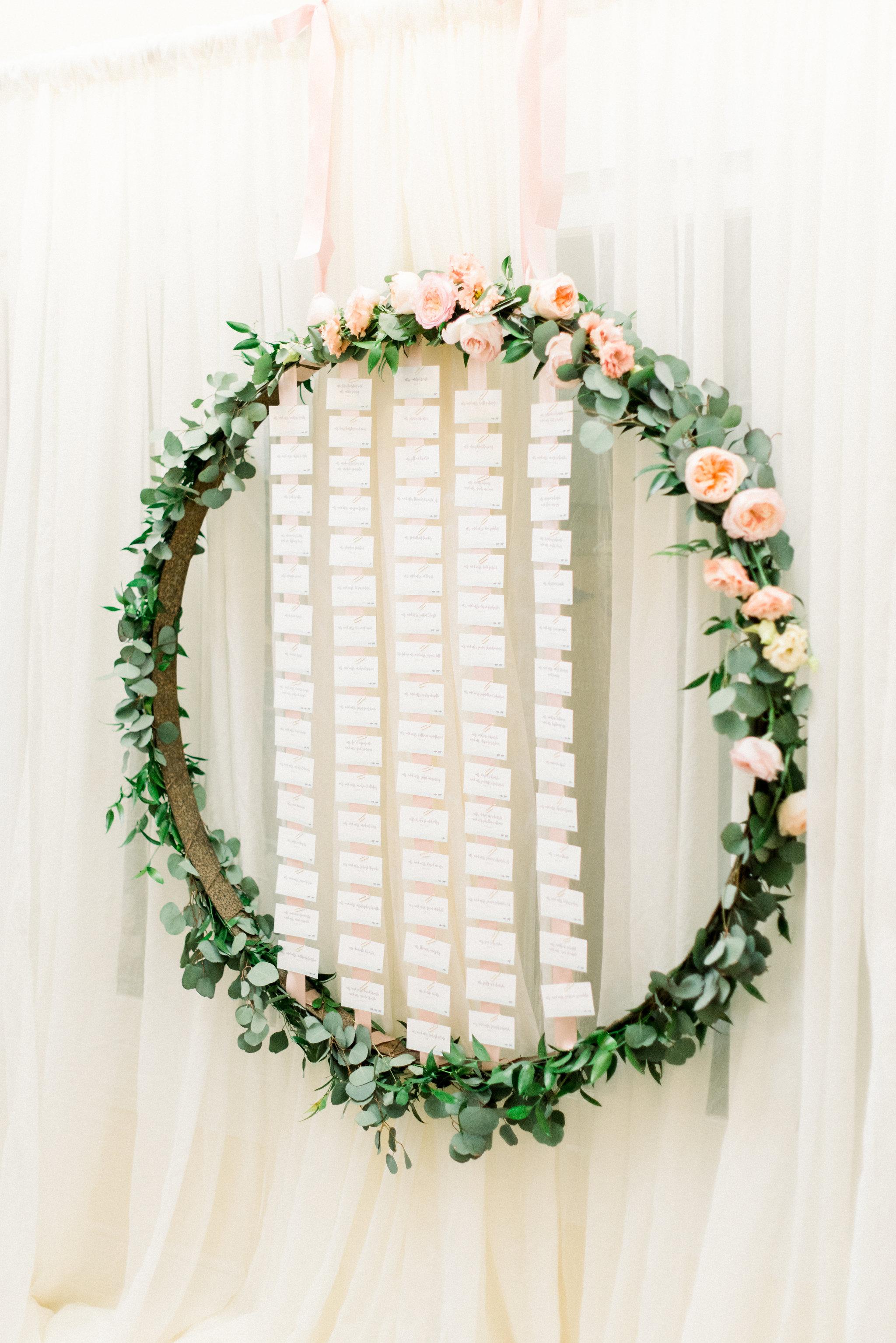 Avalon Wedding, Escort Cards, Seating Assignment, Beach Wedding, Greenery Wedding, Blush Wedding