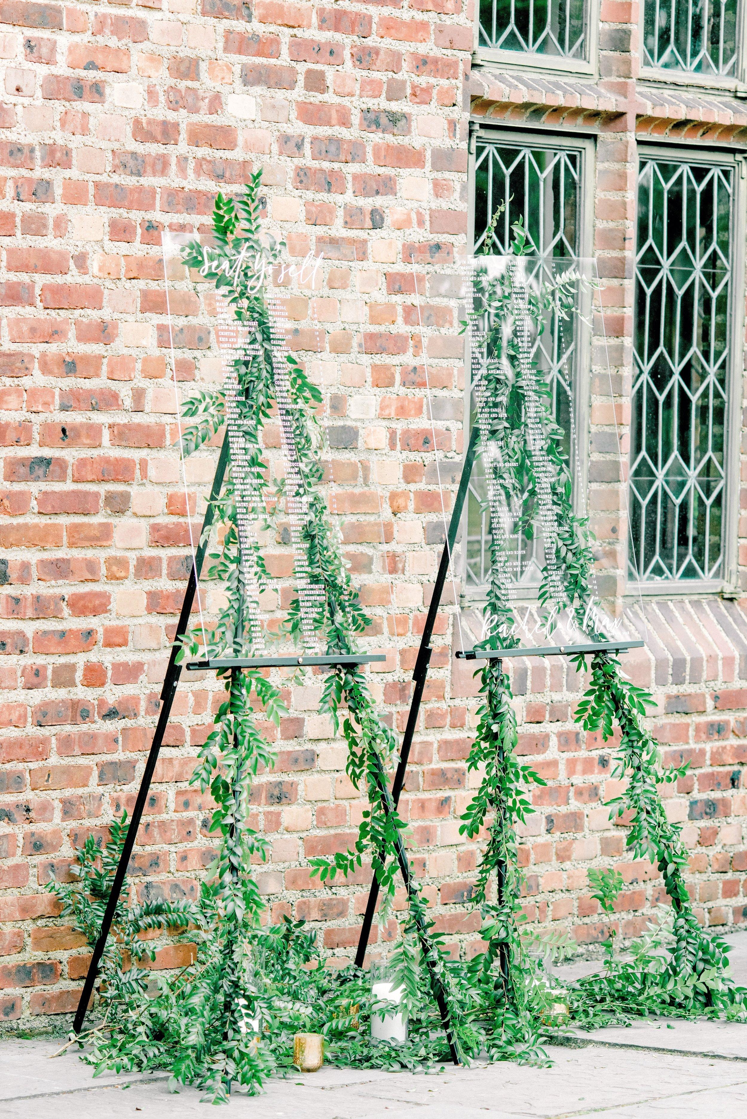 Aldie Mansion Wedding, Escort Cards, Seating Chart, Greenery Wedding, Garden Wedding, Philly Wedding, NJ Florist, Wedding Inspo, House of Catherine, Rachel Pearlman Photography
