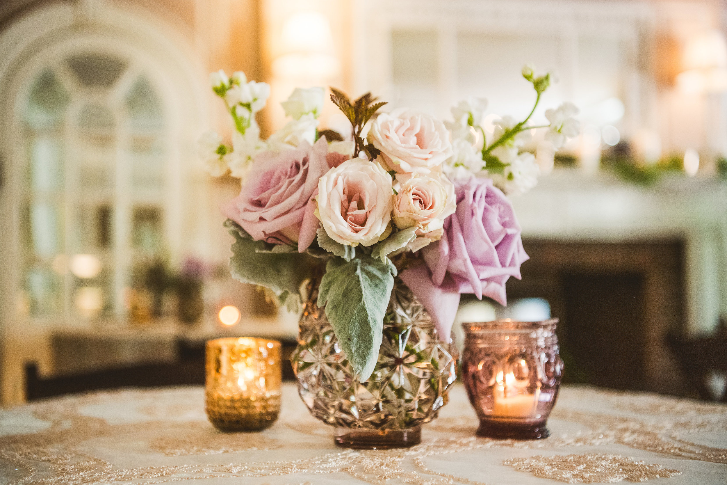 PA Wedding, Sage Farm House, Rectangle Table, Farm Table, Garland, Lavender Votives, Centerpiece, Nikki and Chip Photography