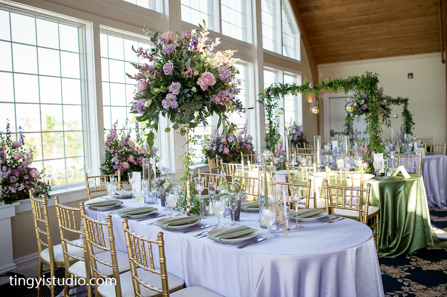 NJ Wedding, Bonnet Island Estate, Tall Centerpiece, Lavender Wedding, Weddings Down the Shore Planner, DP Ting Studio