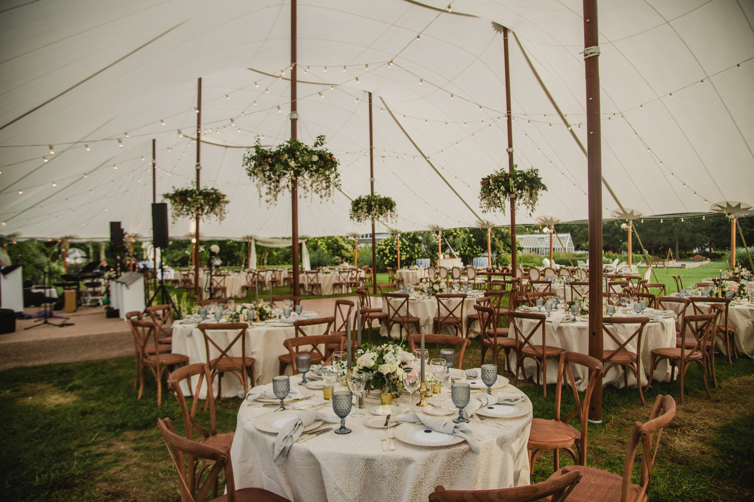Maryland Wedding, Tent Wedding, Entrance Decor, Greenery Wedding, White Flowers, NJ Florist, Inn at Perry Cabin, Maryland Bride, Tyler Boye Photography
