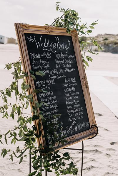 chalkboard program sign, Icona Diamond Beach wedding, Love Me Do  Photography