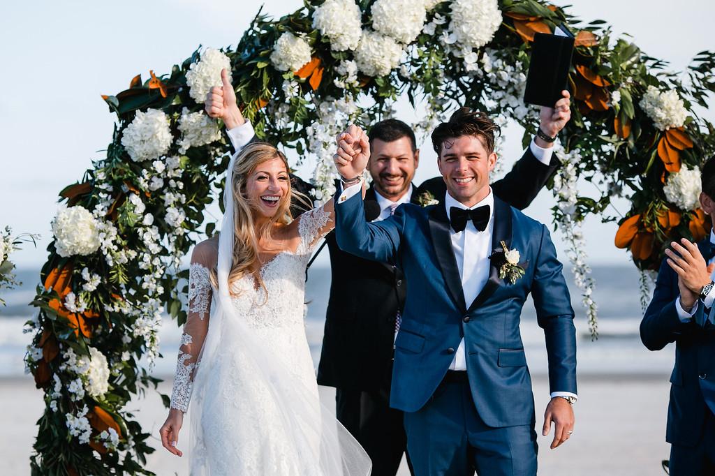 floral circle arch, beach wedding, Icona Diamond Beach, Love Me Do Photography