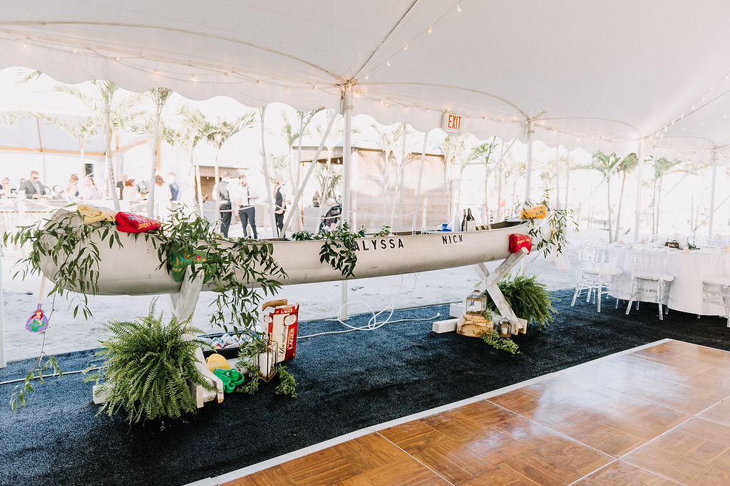 boat bar, custom bar, tent wedding, beach wedding, Icona Diamond Beach, Love Me Do Photography