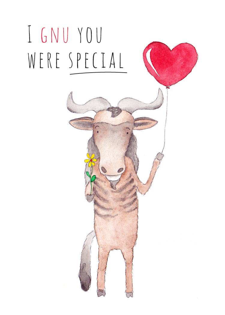 'I Gnu You Were Special'