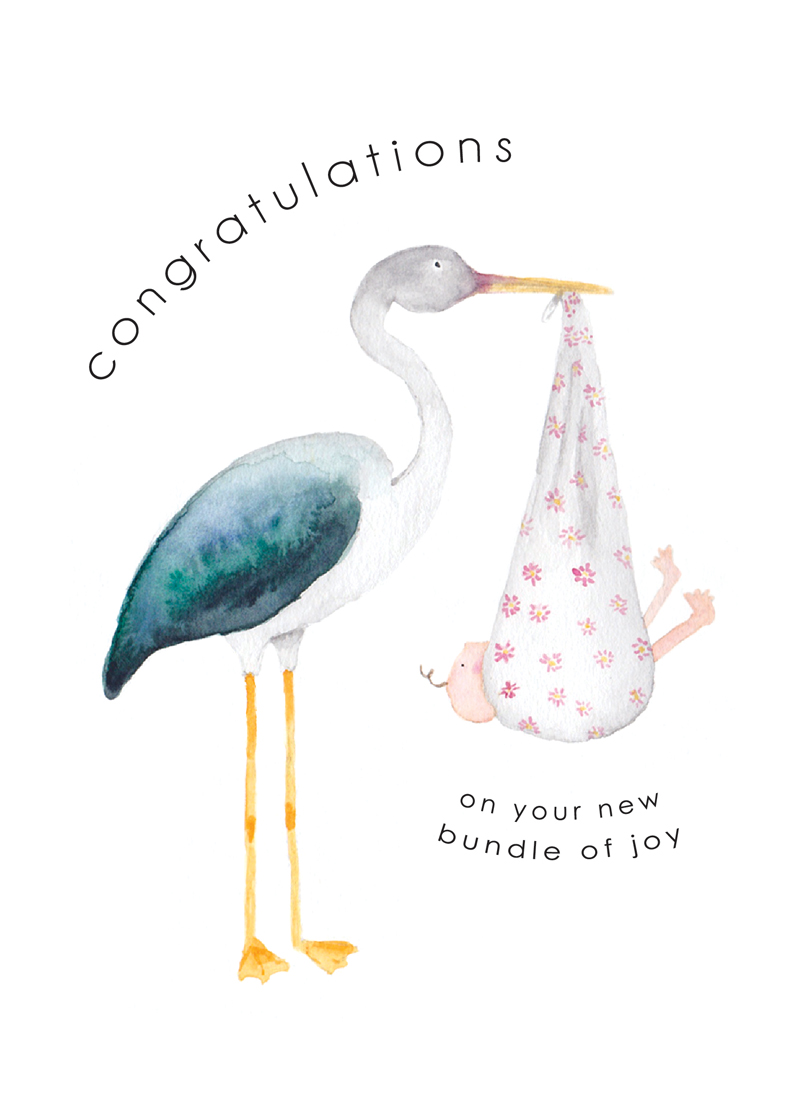 'Congratulations on your bundle of joy'