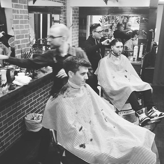 Clipper Ace holding it down and Ol Clean Eugine so fast he's blurry!!! #greenvillebarbershop #vintagebarbering #yeahthatgreenville #💈 #barberlife #cleanfade #upstate #straightrazor #oldcrowbarbershop #buylocalgreenville #upstate
