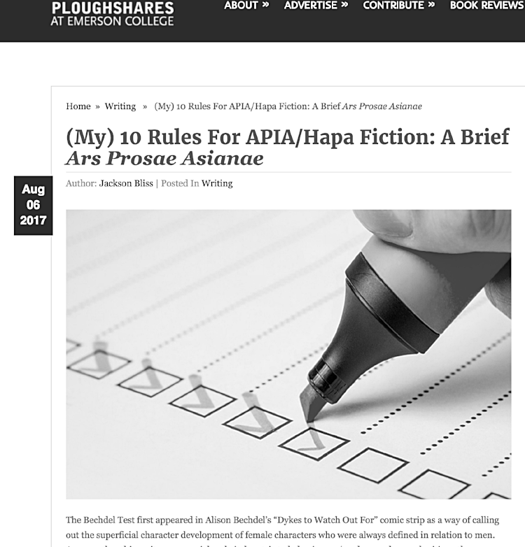 A new litmus test for APIA literary fiction