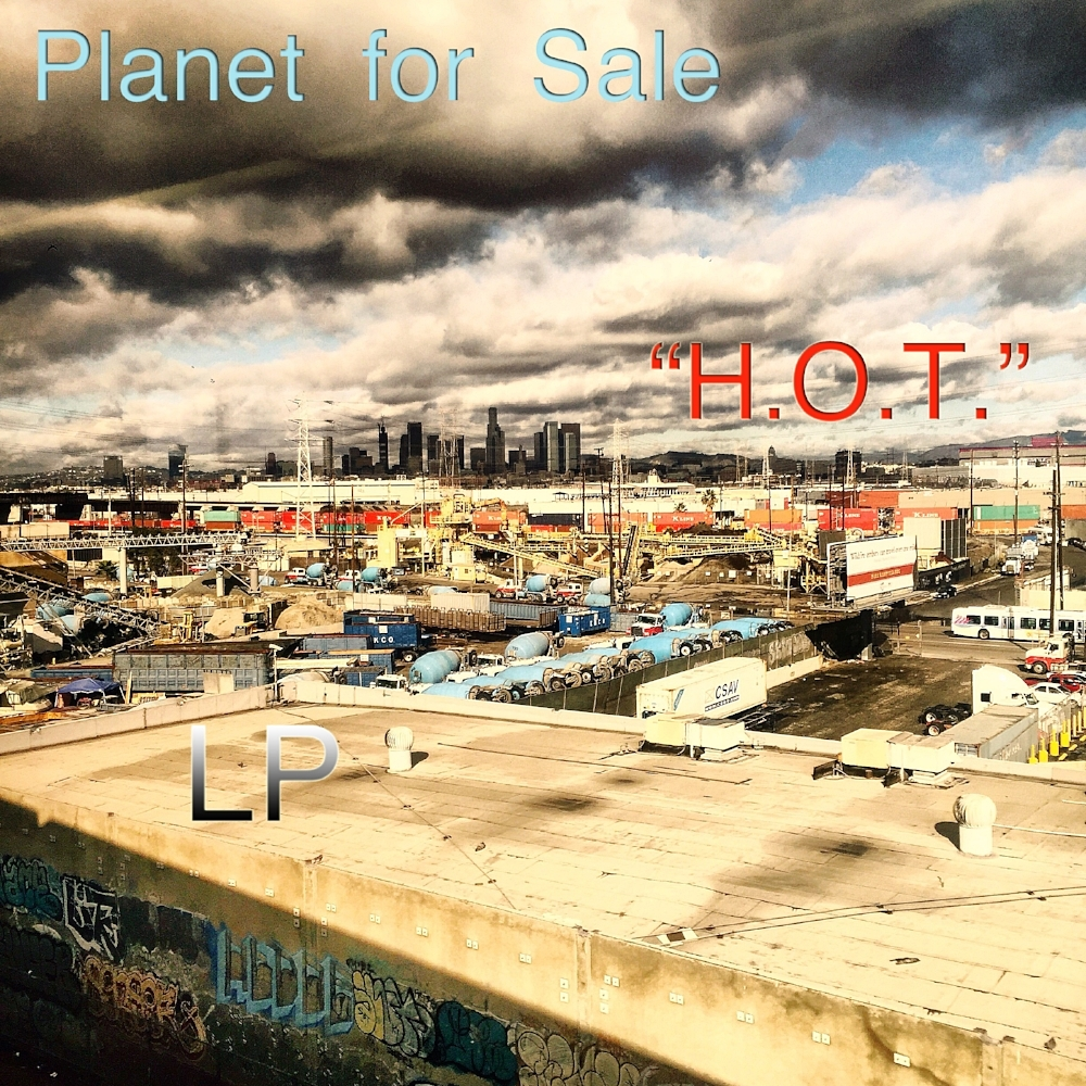 """The band name Planet for Sale is itself an allusion to the disposable earth mentality that became standard with pro-growth market cheerleaders, global warming skeptics, polluting corporations, anti-regulation libertarians (including environmental and safety regulations), and space colonists, all of whom advocated for """"global bankruptcy,"""" that is, relocating the human biosphere to other planets instead of embracing the environmental stewardship that became normative in future generations."""