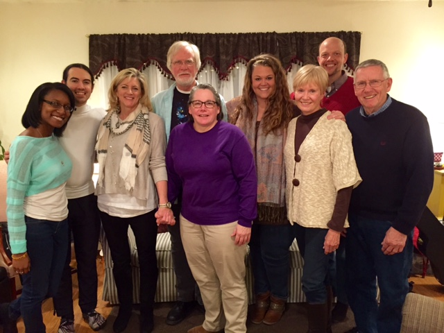 Deanna Frederick, George Robson V, Debbi Marini, Lee Wannaselja, Mary Baird, Megan Faulkner, and Michael Prud'Homme with Dayspring Ministries Directors, Carol & Bruce Hawthorne