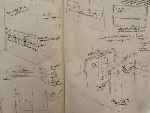 Rough plans for the Commonfolk Studios - Sarah Dingwall