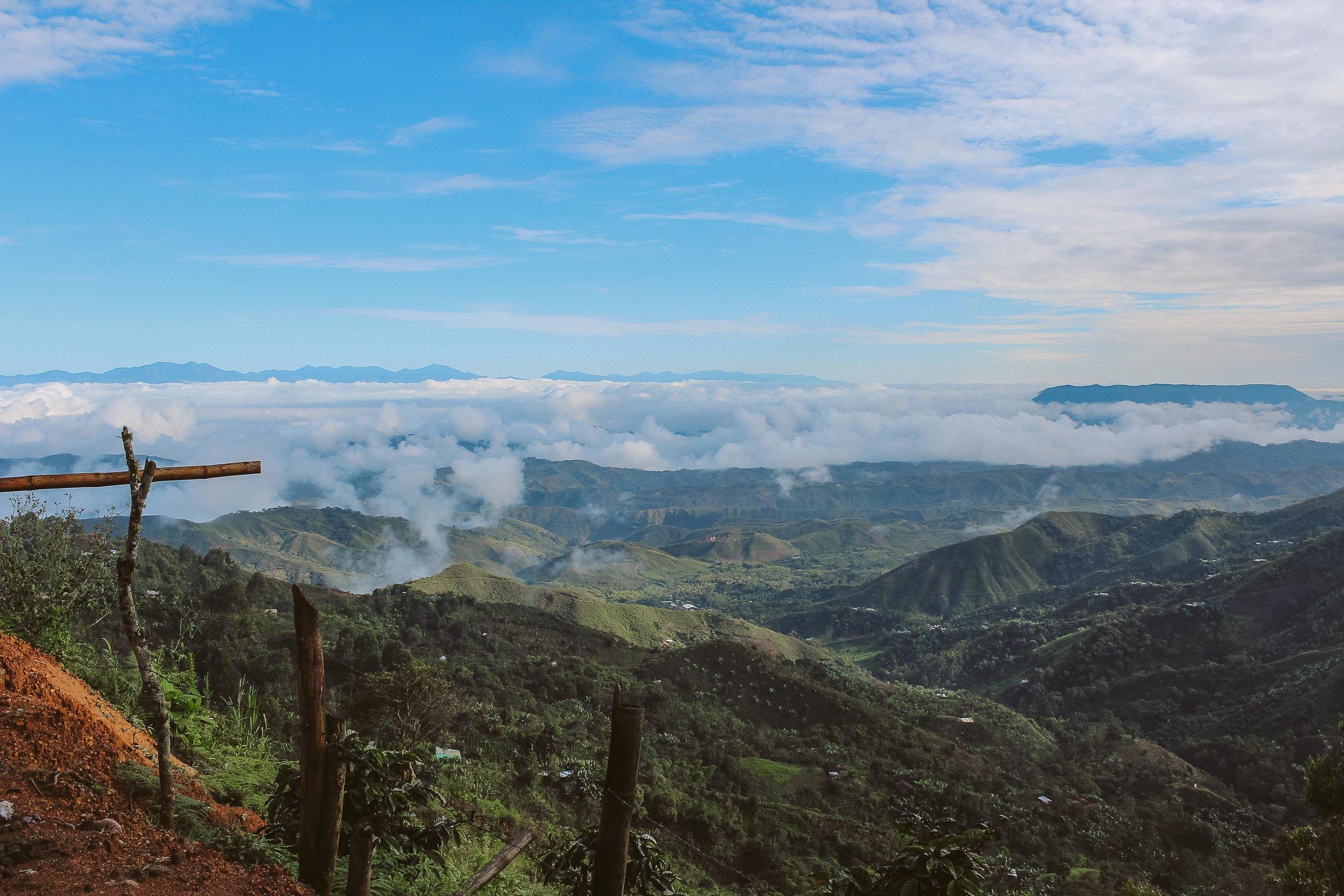 On the road to the Guzman coffee farm in the Cauca region