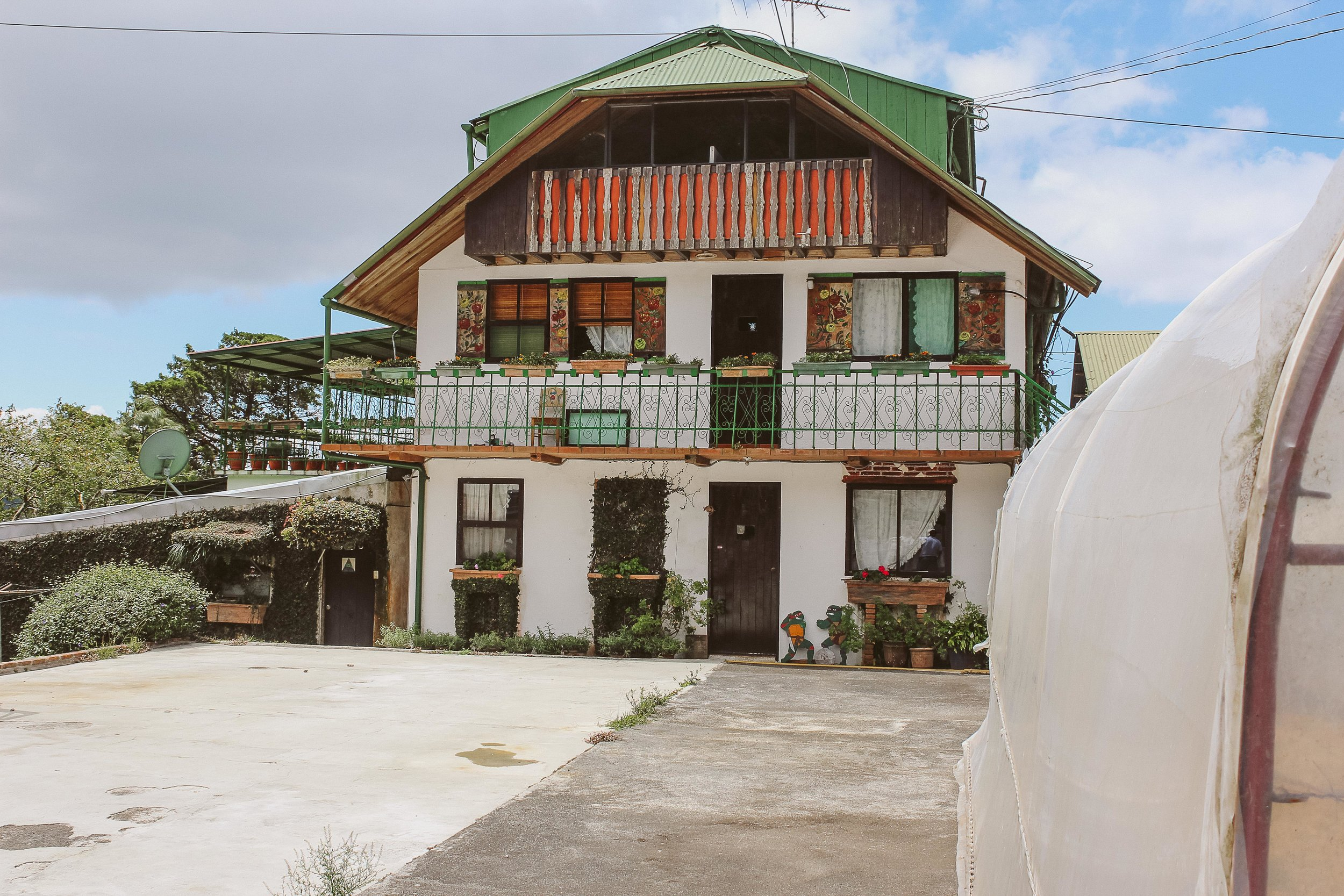 Mausi and Eddy's German heritage can be seen in the buildings, food and culture of Selva Negra