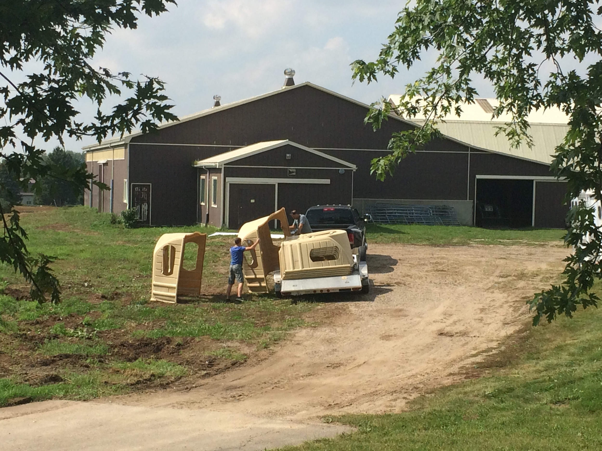 Hay Huts Being put Together