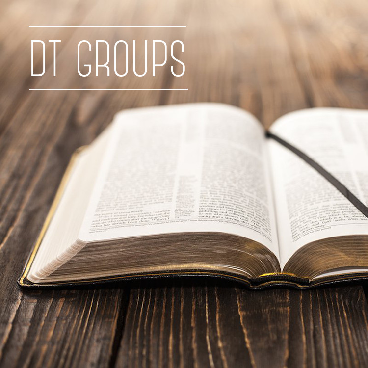 """For those who aren't familiar with the term, DT stands for """"devotional time"""" when we study God's Word each day. If you're interested, sign up and we'll group you into small groups (2-4 people) with an upperclassmen Student Leader. Your group can decide on your own how often, when and where you'd like to meet for DT during the week.   Sign up for DT Groups!"""